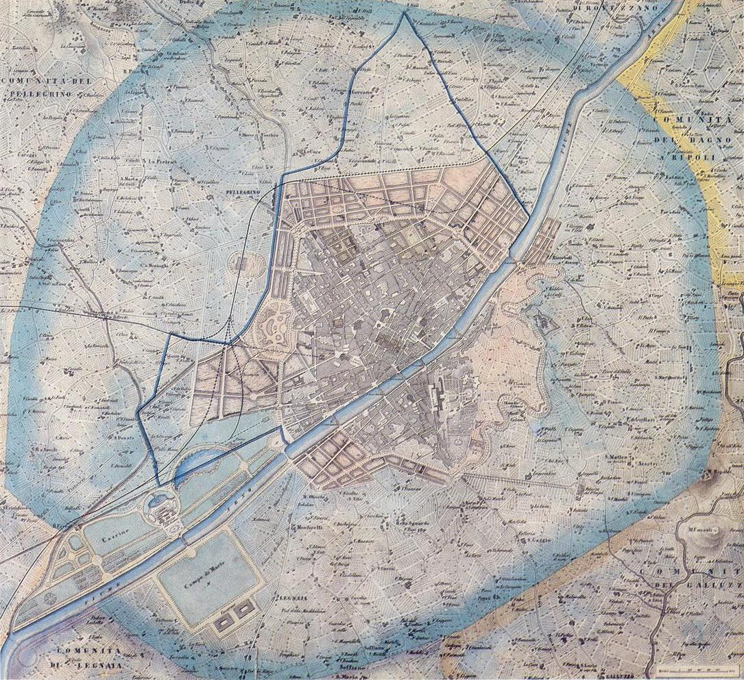 Febbraio 1865 il piano di giuseppe poggi per firenze for Firenze medievale