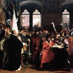 Stefano Ussi, La cacciata del Duca d'Atene da Firenze, 1860. Firenze, Galleria d'Arte moderna di Palazzo Pitti