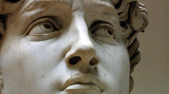 Particolare del David di Michelangelo - Copertina
