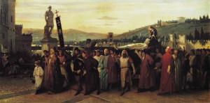Francesco Saverio Altamura, Funerali di Buondelmonte, 1860. Roma, Galleria Nazionale d'Arte moderna