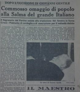 Un articolo su «La Nazione», 18 aprile 1944
