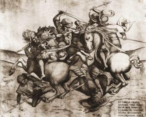 Lorenzo Zacchia il Giovane, Copia della Battaglia di Anghiari, 1558. Vienna, Graphische Sammlung Albertina