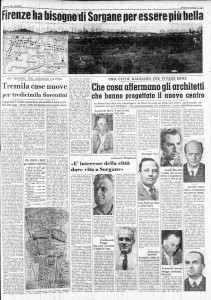 Firenze ha bisogno di Sorgane per essere più bella, Il Giornale del Mattino, 20 febbraio 1957, p. 5