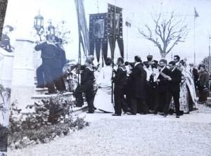 Processione per la consacrazione della chiesa ortodossa russa della Natività di Cristo il 28 ottobre / 9 novembre 1903. Firenze, Archivio della Chiesa Ortodossa Russa