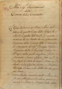 Relazione del 1820 dell'ingegnere della Camera delle comunita e di quello comunitativo sulle condizioni dell'Arno. Immagine tratta dal sito dell'Archivio Storico del Comune di Firenze